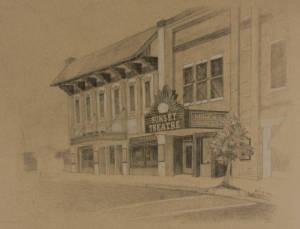 Sunset Theatre Illustration, 2014 (2 of 2)