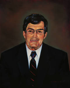 Deane Bell portrait, oil on canvas