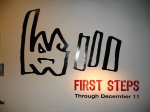First Steps name plate