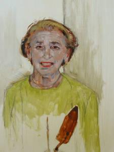 Gloria, oil on panel