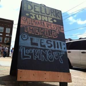 Delurk sandwich board